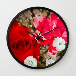 Dianthus and the Rose Wall Clock