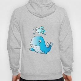 whale cartoon Hoody