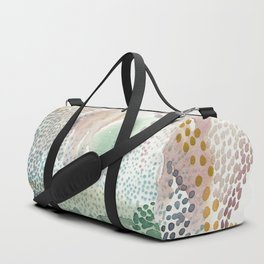 Flower burst; gold Duffle Bag