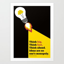 Lab No. 4 - Think Big Dhirubhai Ambani Reliance Corporate Startup Quotes Poster Art Print