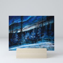 Natt Nordisk Ski winter landscape by Dennis Weber / ShreddyStudio Mini Art Print