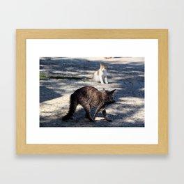 Got you! Framed Art Print
