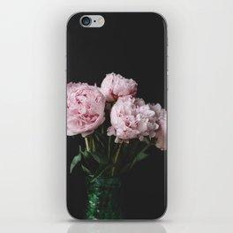 Peonies On Black No. 3 iPhone Skin