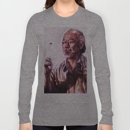 Mr. Miyagi from Karate Kid Long Sleeve T-shirt