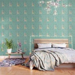 Festive Llama Wallpaper