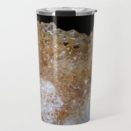 Tiny golden crystals from a geode Travel Mug
