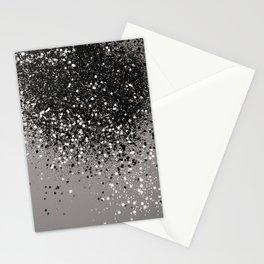 Silver Gray Glitter #1 #shiny #decor #art #society6 Stationery Cards