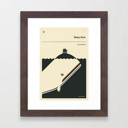 MOBY-DICK Framed Art Print
