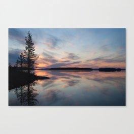 Nordic evening Canvas Print