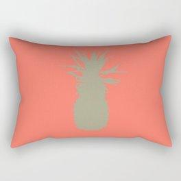 Coral Pineapple Rectangular Pillow