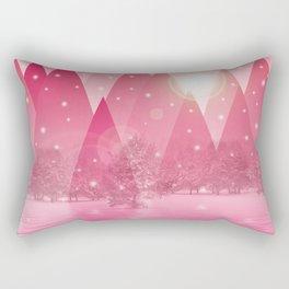 Magic winter pink Rectangular Pillow