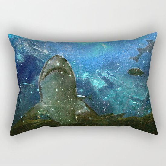 The Great White Marine Lava Lamp Rectangular Pillow