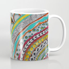 Bright, Colorful, Patterned Rays Coffee Mug
