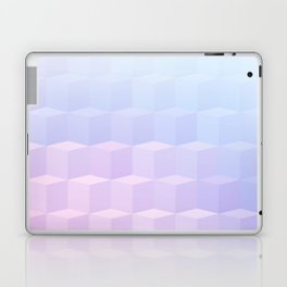 Pastel Cube Pattern Ombre 1 - pink, blue and vi Laptop & iPad Skin