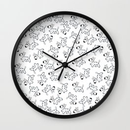 milk cow dog Wall Clock