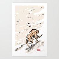 Chnese Tiger Art Print