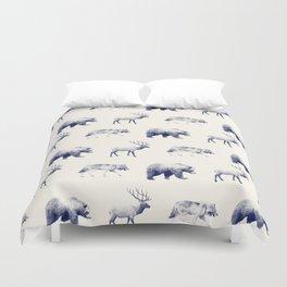 Wild Pattern // Blue Duvet Cover