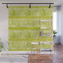 Leaves in Lime Wall Mural