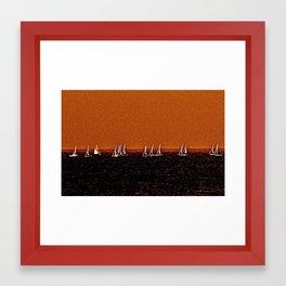Autumn Sail Framed Art Print