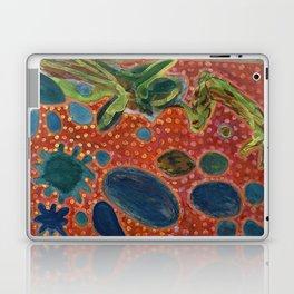 Falling Rocks on dotted Background  Laptop & iPad Skin