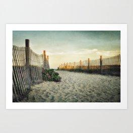 Beach Roses Art Print