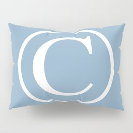 Copyright sign on placid blue background Pillow Sham