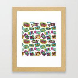 Patch pattern #1 Framed Art Print