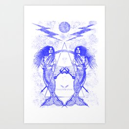 The Talismanic Blue Art Print