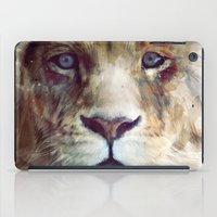 texture iPad Cases featuring Lion // Majesty by Amy Hamilton