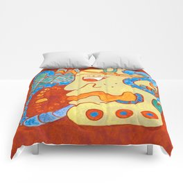 MAYAN GLYPH OF A SPIRIT UNNAMED Comforters