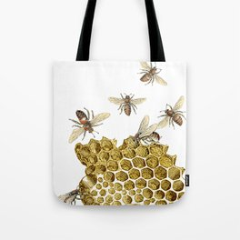 BEES and Honeycomb Tote Bag
