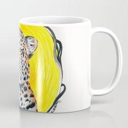Leopard Sun King Ink Art Coffee Mug