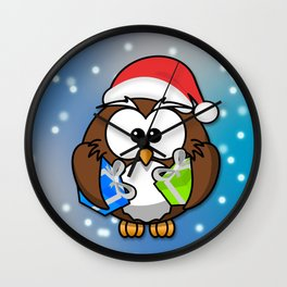 Christmasowl Wall Clock