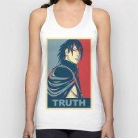 sasuke Tank Tops featuring Sasuke - Truth by KingSora