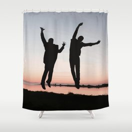 Sunset Jump Shower Curtain