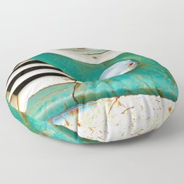 Rusty Turquoise Car Floor Pillow