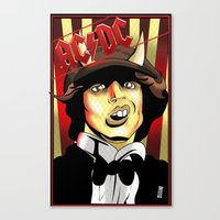 acdc Canvas Prints featuring Rockarture ACDC by JHC Studio