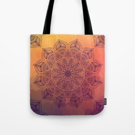Peach Mandala Tote Bag