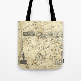 Parisian French Script Tote Bag