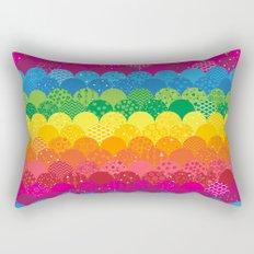 Waves of Rainbows Rectangular Pillow