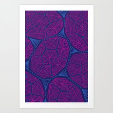 Tidepool Geo Art Print