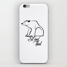 Sitting bear iPhone & iPod Skin