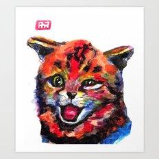 A Cat Named Harl Art Print