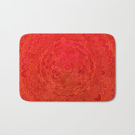 Fire Flower Mandala Bath Mat