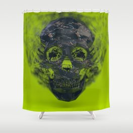 Skull Explotion Shower Curtain