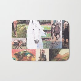 """Horse Collage II"" Bath Mat"