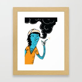 Modern Cyclist #1 Framed Art Print