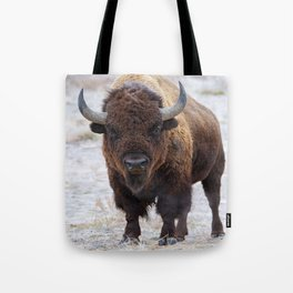 In The Presence Of Bison #society6 #decor #bison by Lena Owens @OLena Art Tote Bag