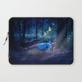 Woman Floating In Nature Laptop Sleeve