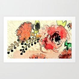 Rustic Roses Art Print